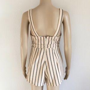 LF Dresses - LF Angel Biba peach & black striped romper